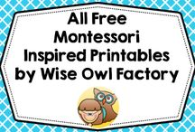 Free Montessori Inspired PDFs by WOF / Free Montessori and Montessori inspired printables by Wise Owl Factory on my blog and educational stores.  All free, always free.