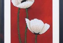 Poppies bead embroidery diy kits / Beaded embroidery is easy to make. This is relaxing and very aesthetic hobby. You will get terrific result with tiny efforts - unique piece of art and attractive decoration for your home. The kits made in Ukraine are notable by their fine selection of high quality Czech beads and neat pattern prints. Every kit is accurately packed and good as excellent and inimitable gift for any craftster.  Lado.artfire.com