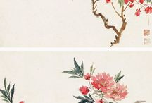 chines flower paintings