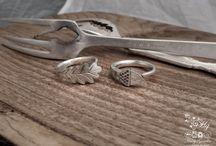 Sieraden maken van zilver bestek