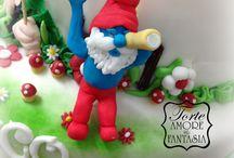 Smurfs Party Smurfs Cake