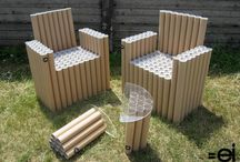 Móveis de tubo papelão