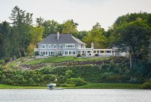 Lakeside Chic Residence / The warmth & character of this lake home start with the grand exterior & inviting outdoor spaces, with large pool & pool house, a screened porch & fireplace, as well as lavish lawn areas & colorful landscape. The home's interior is elegant yet comfortable. The main level features large kitchen, formal living & dining rooms, home office & custom wine bar. The upper level includes an elegant master suite & bath as well as additional bedrooms & baths, exercise room & children's playroom.