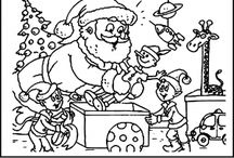 Santa claus coloring pages / This page has lots of free santa clous coloring pages for kids,parents and teachers.