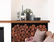 Log storage and fireplaces