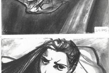 Storyboard / value sketches