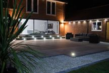 Lighting features / Lighting ideas to create effective ambience and illuminate your Bradstone garden, patio or driveway.