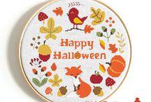 Halloween cross stitc pattern