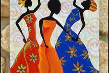 AFRICANAS Y OTRAS SILUETAS / Siluetas en general. www.manualidadespinacam.com