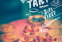 food drawings, typography
