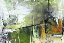 abstract acryl inkt