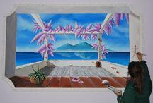affreschi e dipinti su muro / painting on the wall and interior decoration / opere autentiche realizzate a mano su pareti...