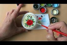 pintura brasilera de rosas