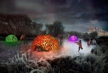 "Nuzzles / Warming ""houses"" created for a competition in Winipeg CA / by Paul Wharton"