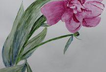 Aquarelle / Voici toutes mes créations de peinture à l'aquarelle. Paysage, Fleurs, Personnage...