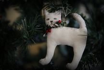 Christmas Ornaments / Lovely unique handcrafted OOAK Christmas decorations!