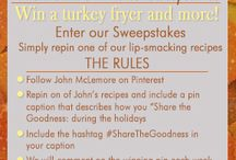 Masterbuilt #ShareTheGoodness Sweepstakes / As we plan for the holiday season, Masterbuilt and John McLemore are getting in to the giving spirit by helping #ShareTheGoodness with others.  / by Cooking with John McLemore