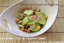 Cucumbers with Ceci & Cipollini Salad
