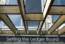 Deck building Steps / Building instructions about Wrap-around deck, covered deck, porche, raised deck, under deck storage shed.