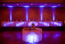 Under table lighting  / New lighting style for weddings and events.  Lighting a table with battery powered lights from underneath.
