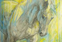 Horse art / It's about horse art. With beautiful paintings...