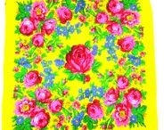 Floral Scarves / Native Life Store has both large and small floral scarves in both metallic and non-metallic.  Beautiful!