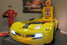 "World's best Car beds! / We carry the finest car beds from Europe. ""Race to bed"" Flashing lights and sounds!"