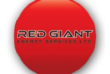 Our Oil & Gas Client / Developed a website and corporate identity package for Red Giant Energy Services Ltd.