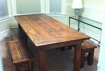 old wooden kitchen tables