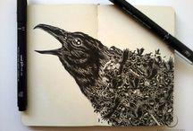 Sketchbook/moleskine doodles