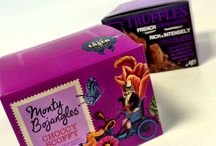 Monty Bojangles Curious Truffle Range / The New Look Range with our Five Curiously Moreish flavours. Visit www.montybojangles.com to see the full range!