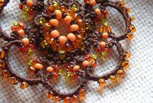 Tatting with beads. Frywolitkowa biżuteria / Tatting. Frywolitki