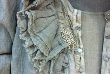 The use of vintage fabrics.