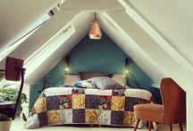 Attic bedroom / Renovated attic bedroom