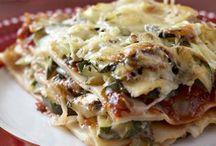 lasagnes courgettes et crottin de chèvre