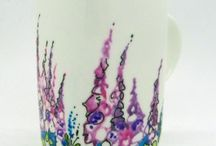 Hand Painted Fine Bone China Mugs