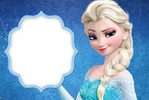 Frozen Disney Free Printables (Karlar Ülkesi Ücretsiz Parti Seti)