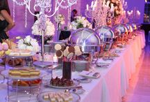 Mesas super elegantes / La decoración de la mesa buffet es muy importante en los eventos de lujo