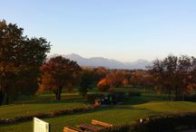 Autumn Sunset on the Golf Course / Sunset on the Golf Course. October 2015.
