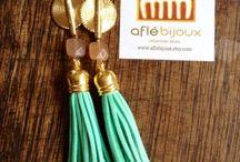 Aflé Bijoux Suede Tassels Earrings / New Afle Bijoux Earrings Collection - Summer 2015 collection