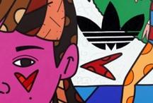 Romero Britto e outros / Pintura