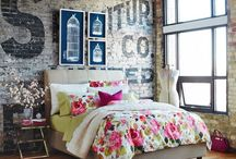 17 Cobham Road / Our style is New York Loft/Industrial made warm though the use of colour & soft furnishings