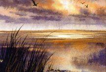 Akvarell landskapsinspo