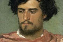 arte - Arnold Bocklin (1827-1901) / arte - pittore e scultore svizzero