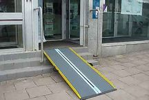 Graphite Fiber Suitcase Wheelchair Ramps / Wheelchair Ramps made of Graphite Fiber to make the lightest ramps in the industry!