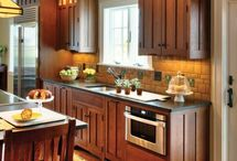 CRAFTSMAN KITCHENS / Craftsman style arose in the early 20th century as a reaction to the mass-produced fussiness of the Victorian era. Its rich woods, built-ins, handcrafted tiles and well-made simplicity continue to charm us.  Sheila Schmitz