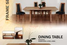 Frame Series Of Decorus Furniture / Frame Series. Dining Table, Side Chair, Buffet 4 Drawers 3 Doors