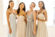 Bridesmaids / The bridesmaids are members of the bride's party in a wedding. All of them are in charge of the Bachelorette Party and they tend to the bride on the day of a wedding or marriage ceremony.