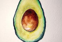 Avocado drawings