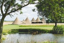 5 Giant Hat Tipis / Five Giant Hat Tipis creates a large and magnificent event space for up to 250 guests